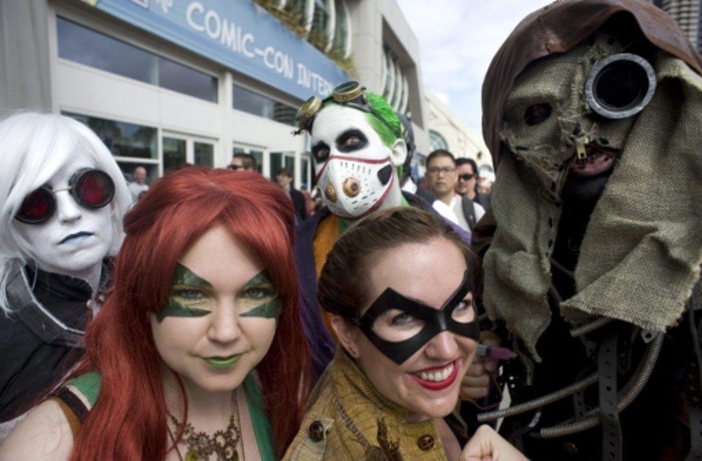 Auf der Comic-Con in San Diego sieht man jede Menge schräger Typen. Foto: EPA
