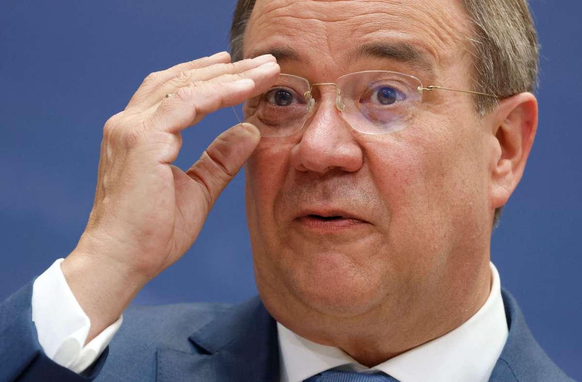 Musste sich unangenehmen Fragen stellen: Armin Laschet Foto: AFP/ODD ANDERSEN
