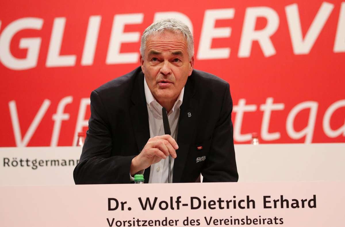 Wolf-Dietrich Erhard nimmt seine Arbeit im VfB-Vereinsbeirat wieder auf. Foto: Baumann