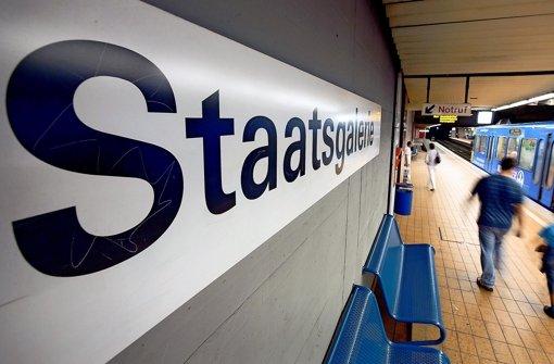 Die Verbindungen von der Haltestelle Staatsgalerie zum Hauptbahnhof und Charlottenplatz müssen wegen Stuttgart 21 zeitweise gekappt werden. Foto: Michael Steinert