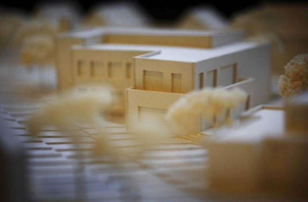 Eine von  zehn Varianten für eine  Neugestaltung des  Geländes mit dem Gemeindehaus. Foto: Gottfried Stoppel
