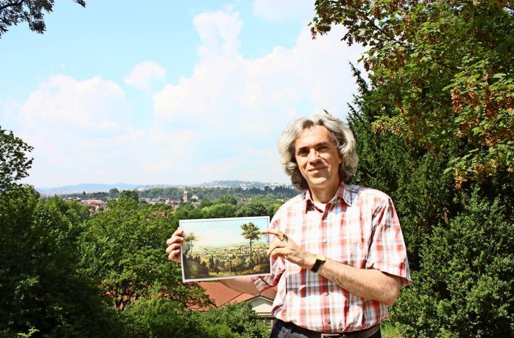 Olaf Schulze am Aussichtspunkt im Oberen Kurpark Foto: Annina Baur