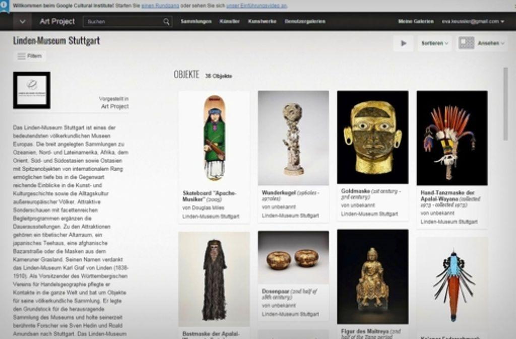 Über die Internetseite des Google Cultural Institute können Exponate des Linden-Museums   zu jeder Tages- und Nachtzeit online besichtigt werden. Foto: Google Cultural Institute/StZ