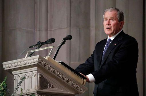George W. Bush hält bewegende Rede für seinen Vater