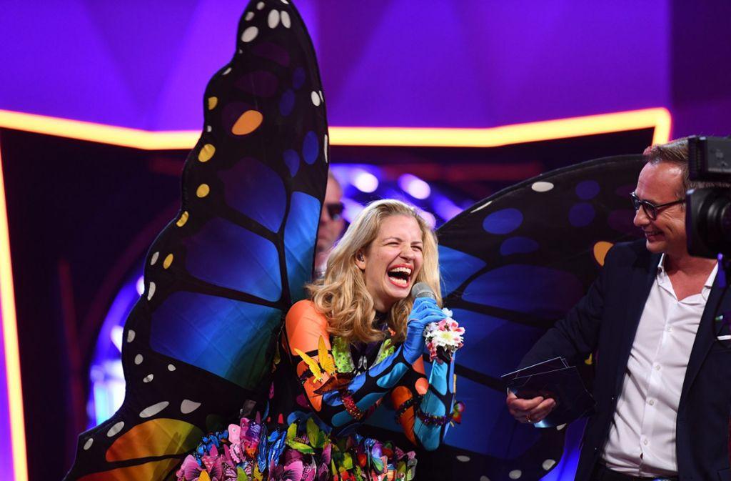 """Mit Ex-GZSZ-Star Susan Sideropoulos konnten die Zuschauer von """"The Masked Singer"""" gestern Abend wenig anfangen. Foto: dpa/ProSieben"""