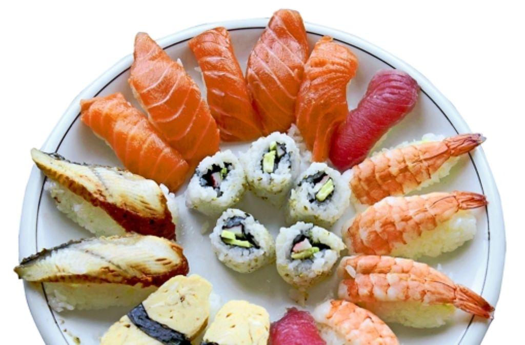 Besonders begehrt als Sushi: Thunfisch, Lachs und Garnelen Foto: Steffen Honzera