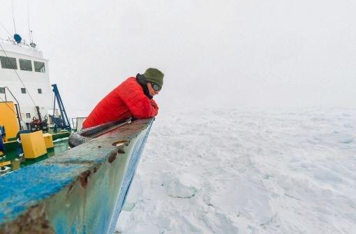 Wir sitzen ein bisschen im Eis fest
