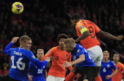 Holländische Nationalspieler setzen Zeichen gegen Rassismus