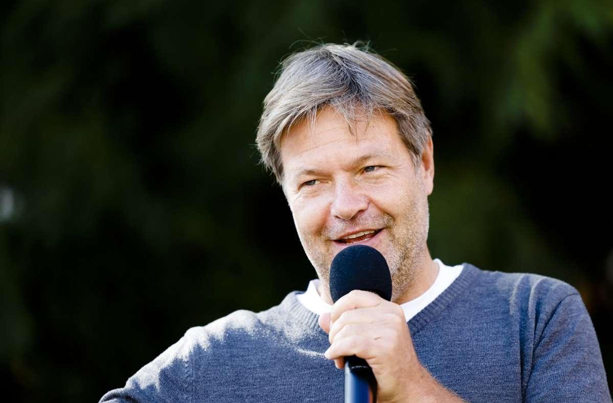 Robert Habeck hofft auf ein gutes Wahlergebnis der Grünen. Foto: dpa/Frank Molter
