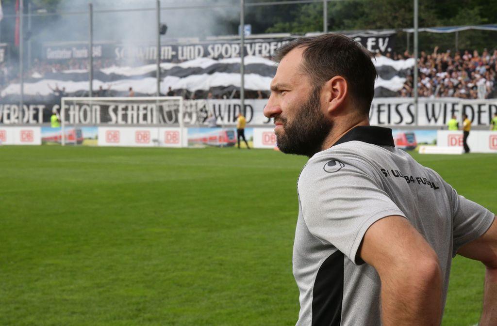 Tobias Flitsch hat  gute Erinnerungen an seinen letzten Auftritt im Gazistadion: Im WFV-Pokal-Finale holt er am 21. Mai mit dem SSV Ulm 1846 den Pott gegen den TSV Ilshofen. Foto: Baumann