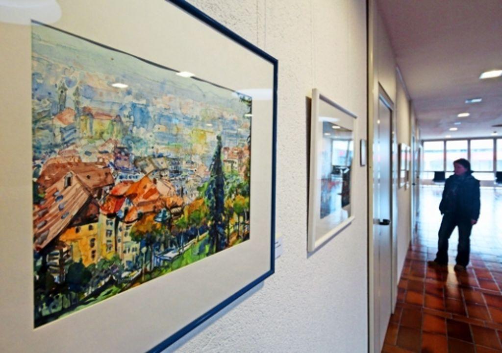 Kein Gerlinger, aber ein heimatliches Motiv: Blick auf Stuttgart Foto: factum/Granville