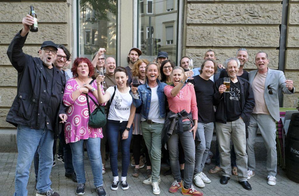 Gelassene Stimmung bei den Stadtisten Foto: Lichtgut/Michael Latz