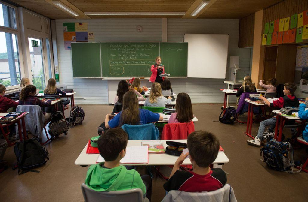 Unterricht an einem Gymnasium Foto: dpa