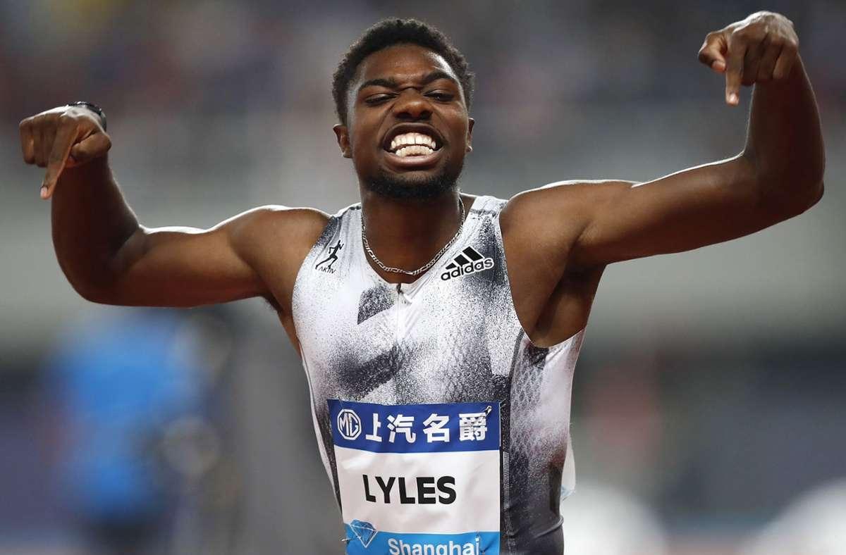 Der US-Sprinter Noah Lyles ist nicht nur 22 Jahre alt, sondern auch  amtierender Weltmeister über 200 Meter. Foto: AP