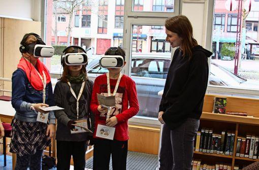 Kinder begeben sich auf virtuelle Spurensuche