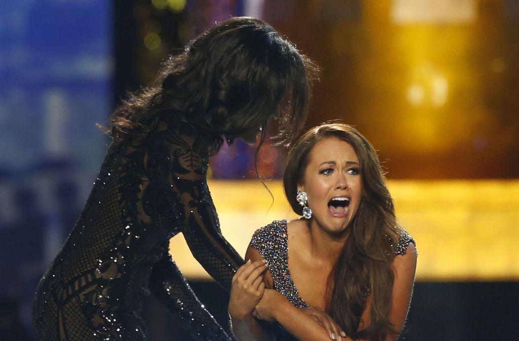 Cara Mund hat gerade erfahren, dass sie die neue Miss America ist. Foto: AP