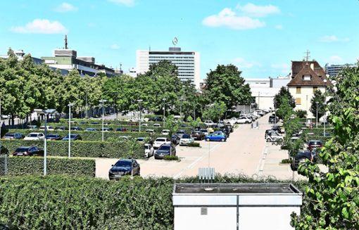 Feuerwache auf dem Daimler-Parkplatz