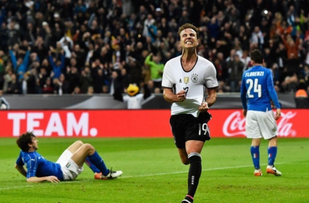 Mario Götze ist befreit nach seinem Tor zum 2:0. Foto: Getty