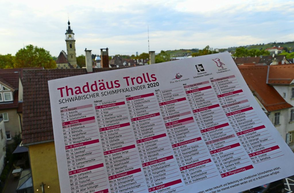 Der neue schwäbische Schimpfwortkalender Foto: Uli Nagel