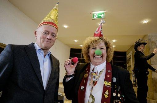 Rote Nase für grünen OB Kuhn