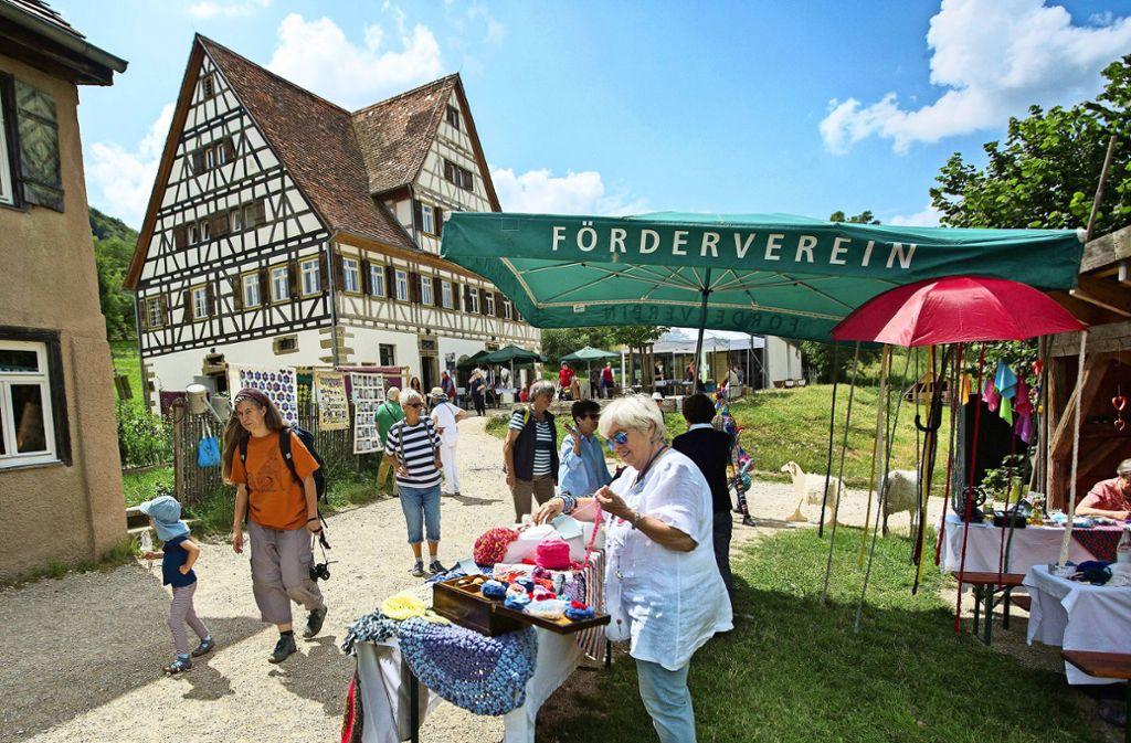 Der Förderverein des Freilichtmuseums macht Werbung in eigener Sache Foto: Ines Rudel