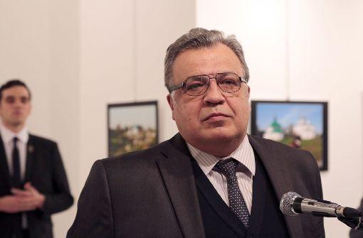 Russischer Botschafter bei Anschlag getötet