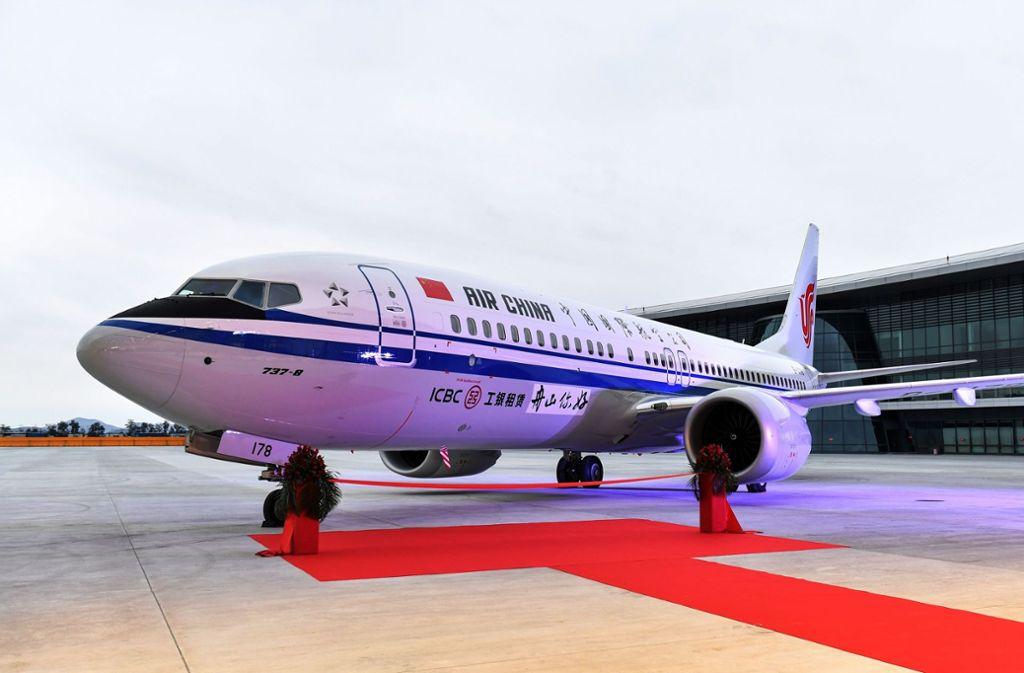 Air China muss die 737-Max-8 vorerst am Boden lassen. Foto: AFP