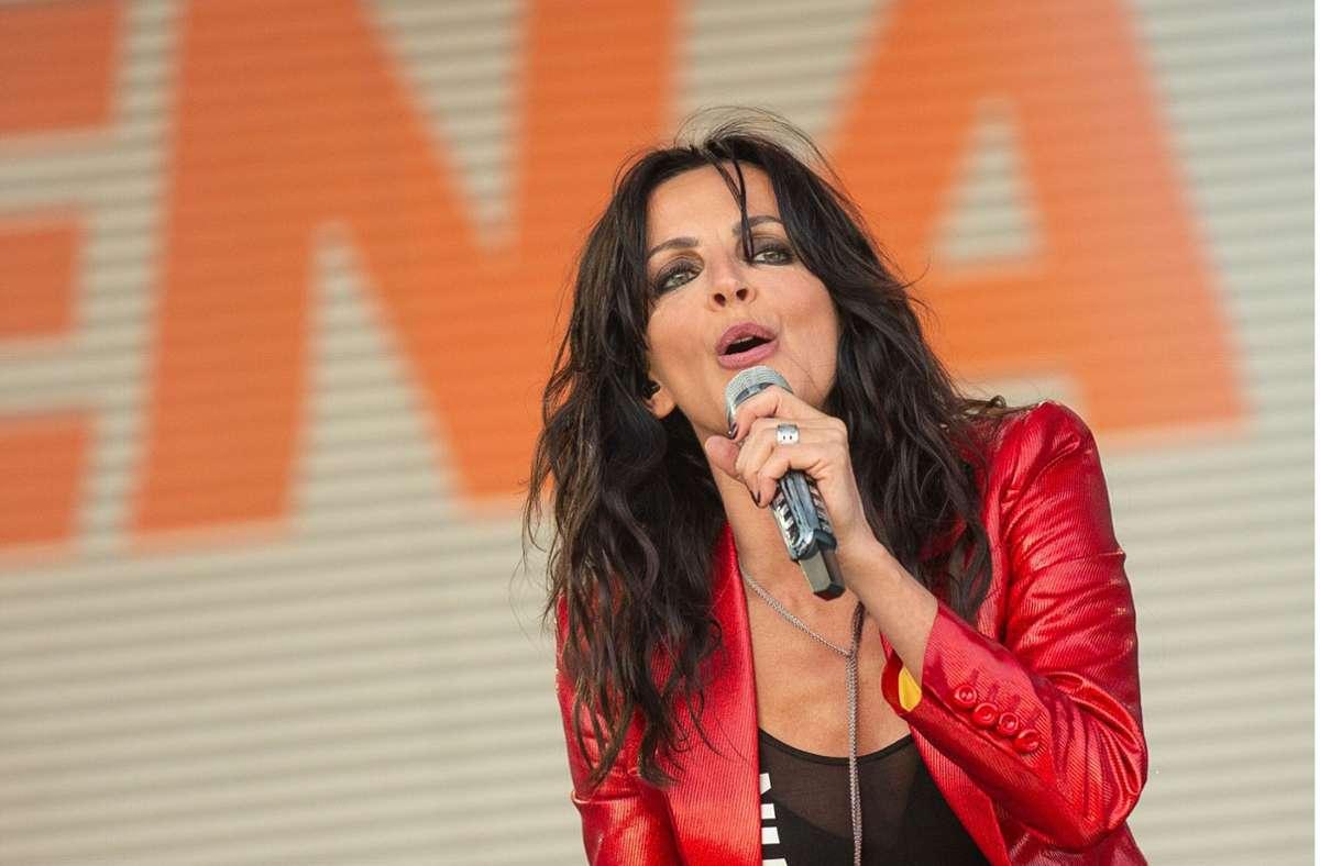 Nena bei ihrem Auftritt beim Livesommer am Stuttgarter Flughafen.. Foto: Leif Piechowski