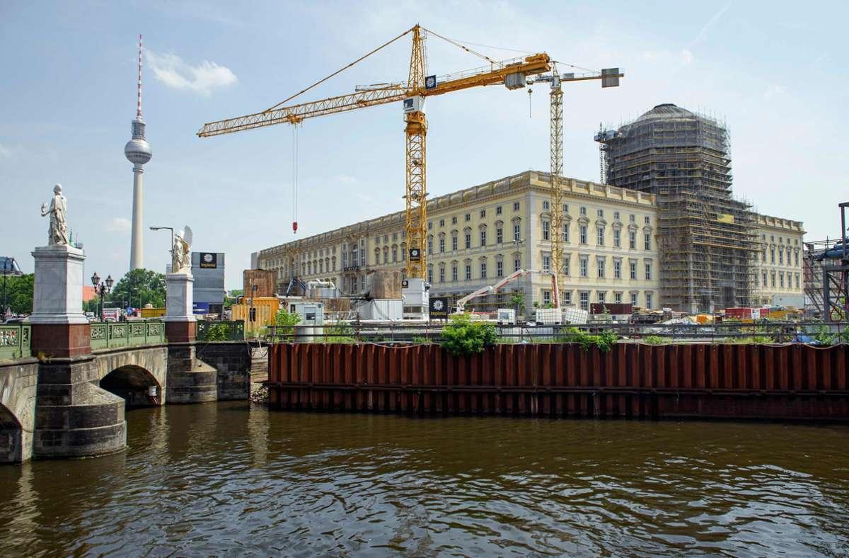 So sah 2019 die Baustelle aus. Foto: dpa/Gregor Fischer