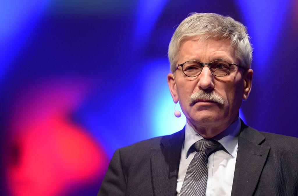 Thilo Sarrazin wird im Verkehrsausschuss des Bundestages zu Stuttgart21 sprechen. Foto: dpa
