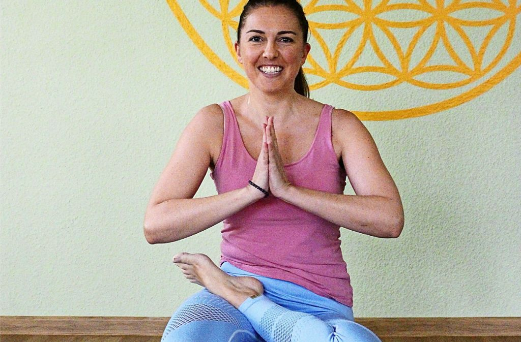Sofia Rapti betreibt ihr Studio Yogabreak seit etwas mehr als vier Jahren. Foto: Holowiecki