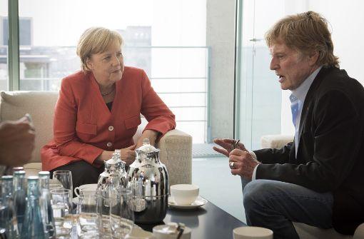 Merkel trifft Robert Redford