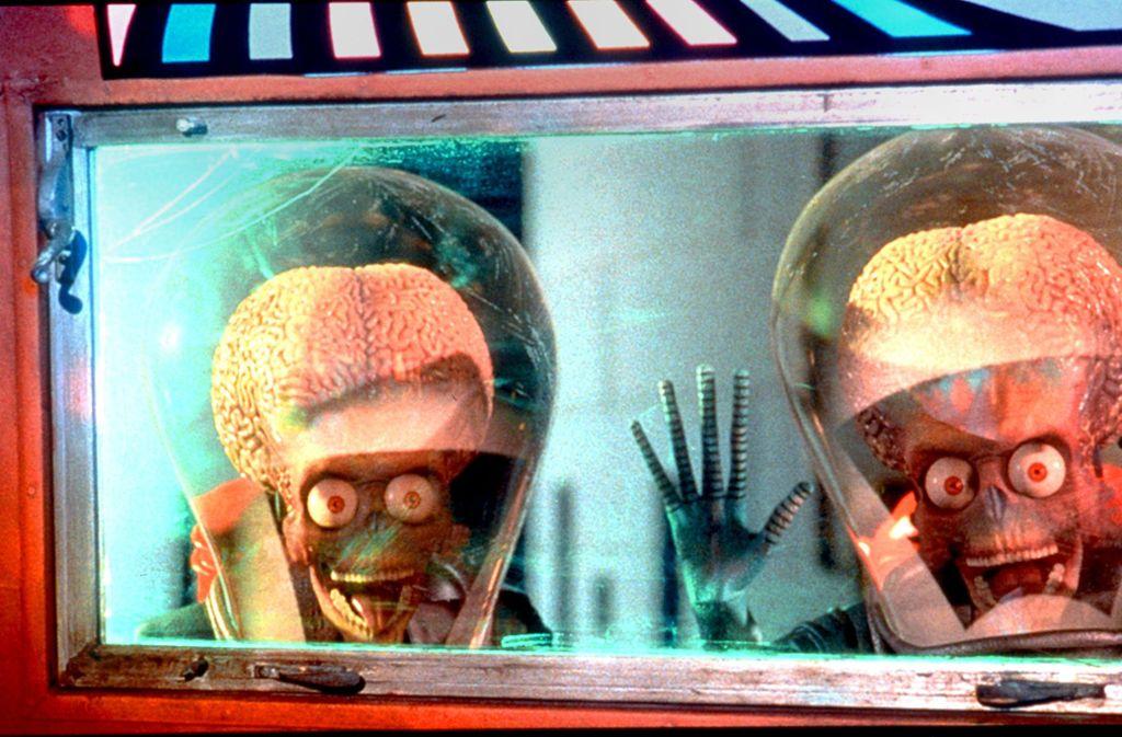 """Von wegen """"Mars Attacks!"""". Demnächst bekommen die  Aliens Besuch. Foto: dpa/Warner"""