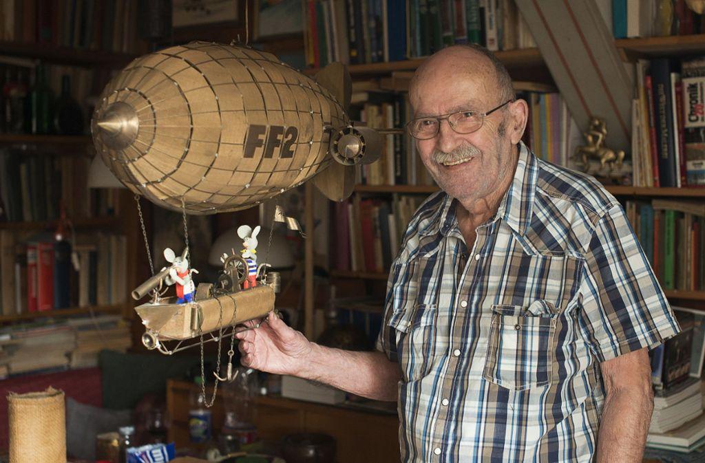 Comiczeichner Jürgen Kieser ist mit 97 Jahren gestorben. Foto: dpa