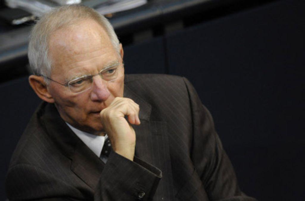 Seit wann weiß Schäuble von dem Milliarden-Rechenfehler bei der HRE? Foto: Stuttgarter Zeitung online