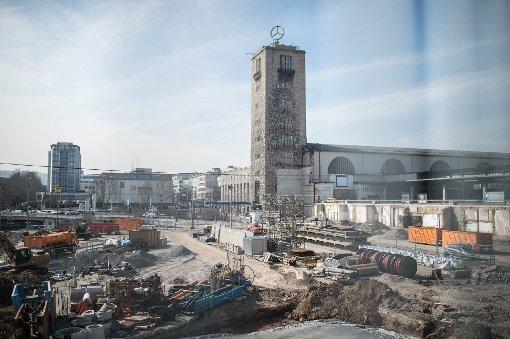 Der Hauptbahnhof im März