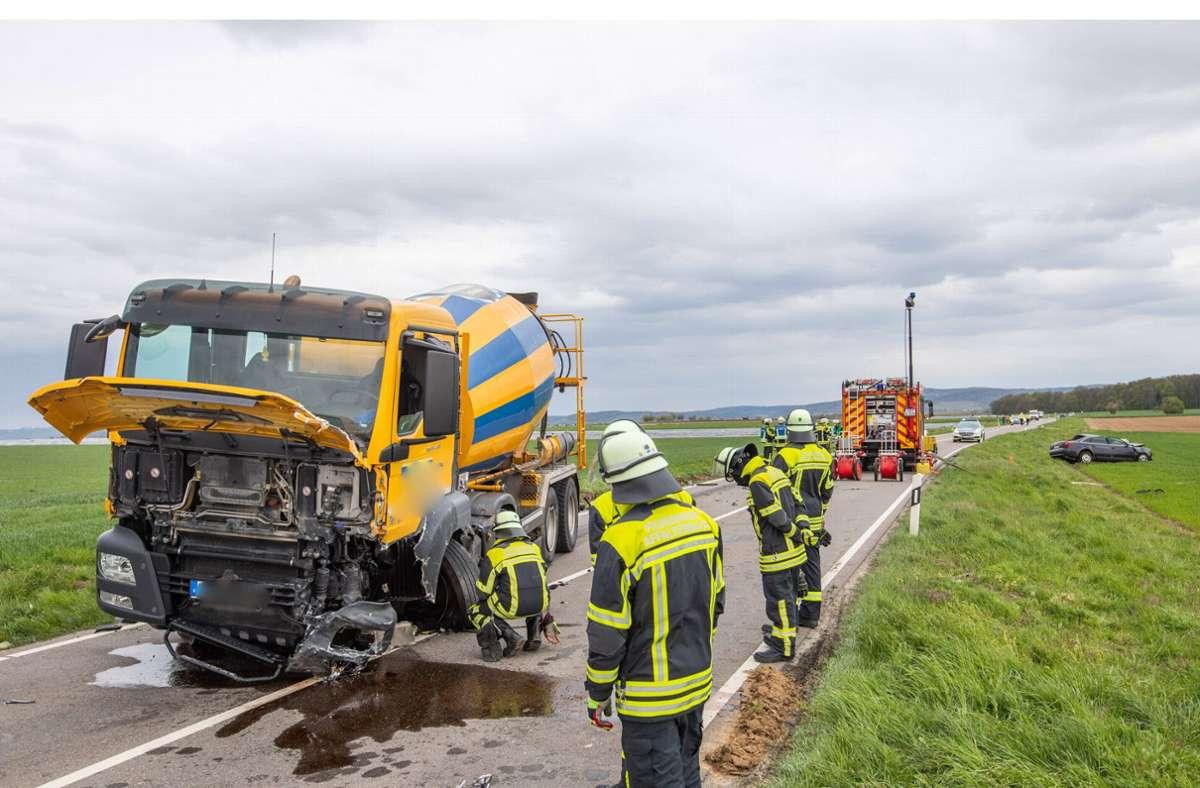 Ein schrecklicher Unfall ist am Dienstag bei Affalterbach passiert. Foto: 7aktuell.de/Simon Adomat