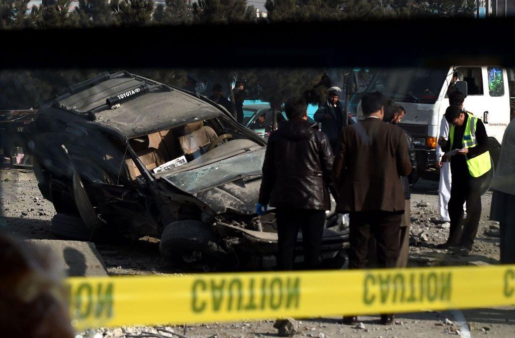 Im Zentrum der afghanischen Hauptstadt Kabul sind am Dienstag zwei Autobomben explodiert. (Symbolfoto) Foto: AFP
