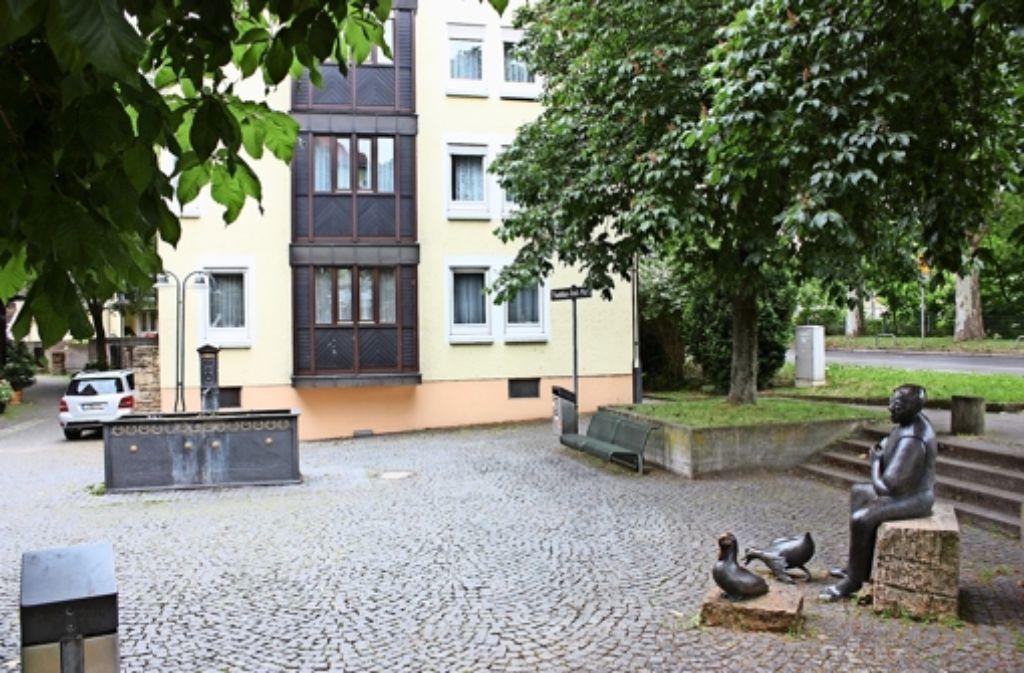 Am Ende der Marktstraße befindet sich der Thaddäus-Troll-Platz. Foto: Annina Baur