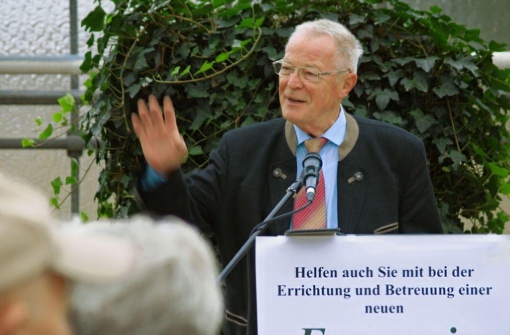 Für Klaus Lorenz, die treibende Kraft beim Bau des Geheges, ist bei 80 Quadratmetern noch nicht Schluss. Foto: Rüdiger Ott