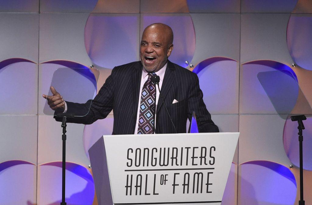 Musikmogul Berry Gordy freute sich sichtbar über seine Auszeichnung.  Foto: Invision