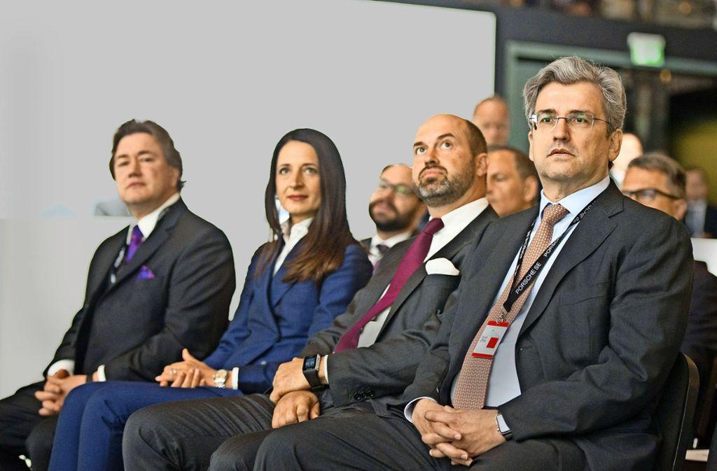 Neue Gesichter im Porsche-Aufsichtsrat (von links): Peter Daniell Porsche, Marianne Heiß, Stefan Piëch und Josef Ahorner. Foto: Lichtgut/Oliver Willikonsky