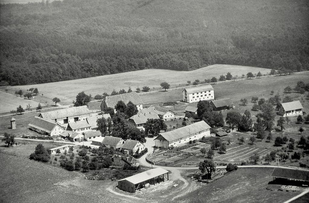 Der Ihinger Hof  im Jahr 1964. Foto: Uni Hohenheim