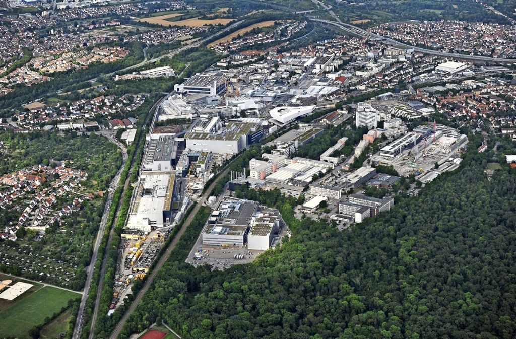 In Zuffenhausen ist die Firma Porsche sehr dominant. Foto: Werner Kuhnle/Daniel Maurer