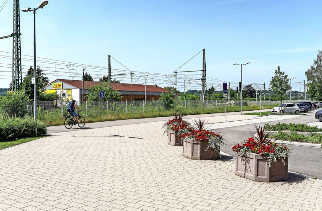 Sollte die Hesse-Bahn bis nach Renningen fahren, bräuchte es hier einen neuen Bahnsteig. Foto: factum/