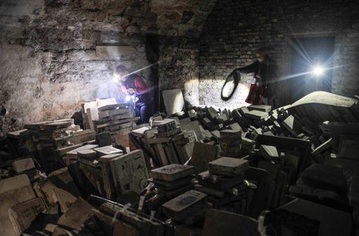 Unvermutete historische Schätze in Katakomben