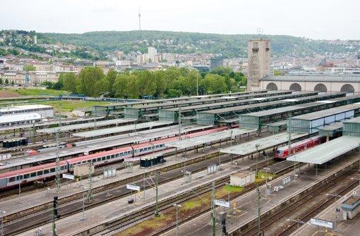 Das Gleisvorfeld des Kopfbahnhofs in Stuttgart Foto: dpa