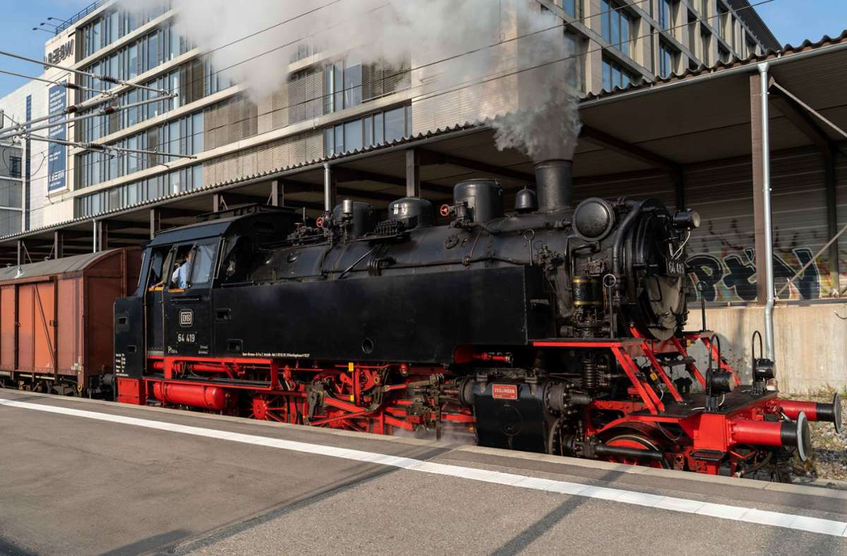 Nostalgie pur: der Bahnpostzug Foto: Julia Schramm/Julia Schramm