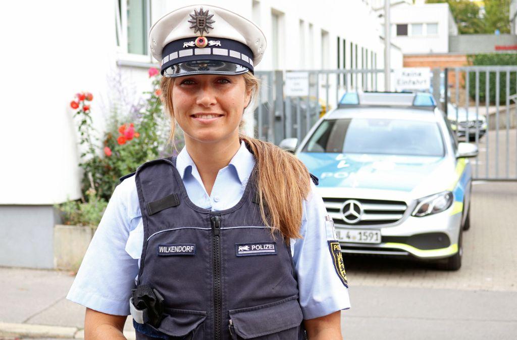 Moira Wilkendorf ist seit 2011 bei der Polizei. Foto: Jonas Schöll/StZN