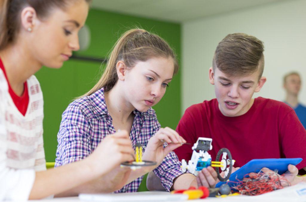 Abschluss in der Tasche und nun? Beim Firmensommer 2019 können Schulabgänger in verschiedene Berufe hineinschnuppern. Foto: Shutterstock/DGLimages